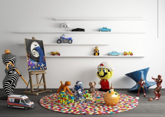 现代儿童乐高玩具