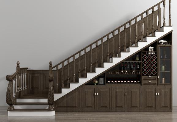 欧式楼梯 酒柜