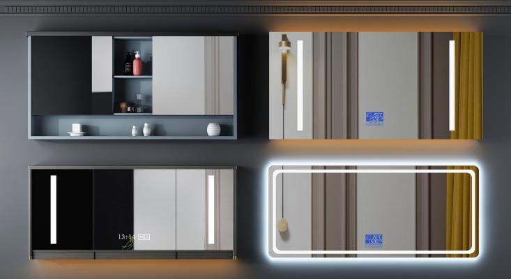 现代卫浴柜架 浴室镜柜