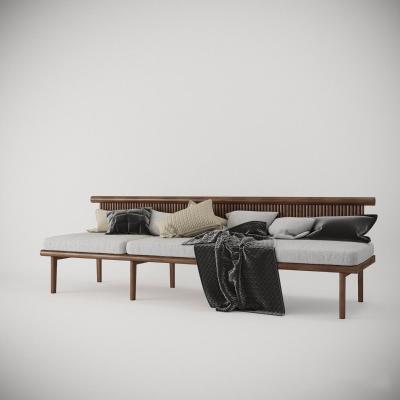 北欧木质卡座 沙发
