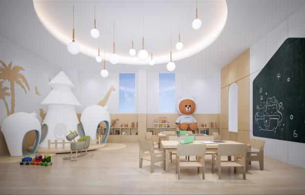 现代幼儿园 托班教室