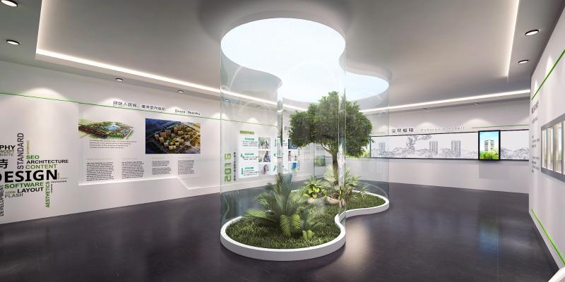 现代展馆 树
