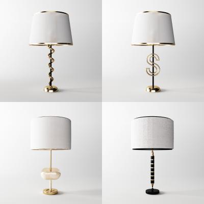 现代轻奢金属台灯