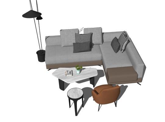 现代简约转角沙发组合