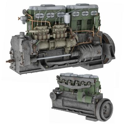现代柴油发动机 引擎 马达