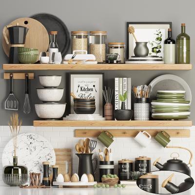 現代廚房用品組合 餐具 碗碟