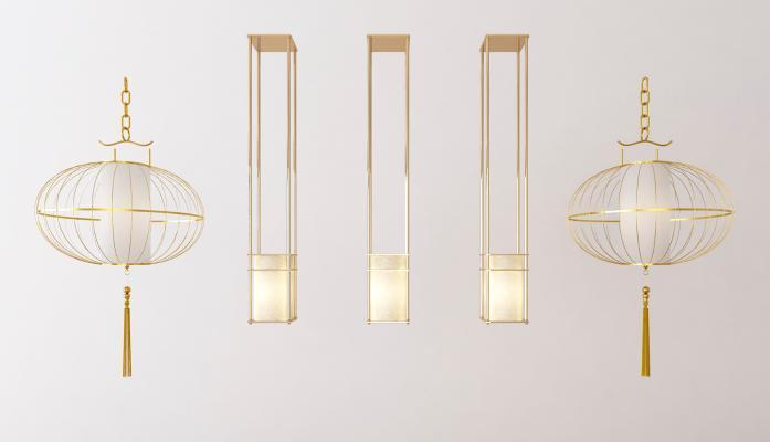 新中式吊灯组合