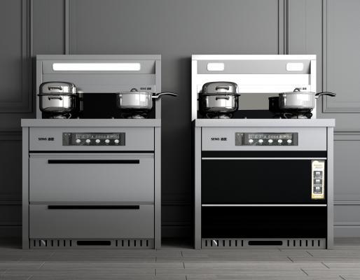 现代厨房用具 集成灶 燃气灶