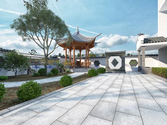 中式风格庭院子 大门