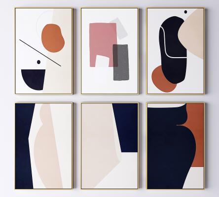 现代轻奢艺术装饰挂画 抽象画 艺术画
