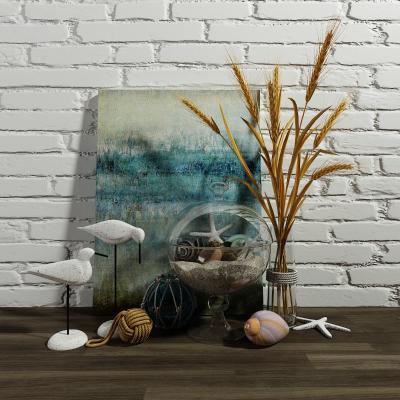 地中海麦穗插花鸟状摆件 装饰品