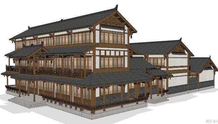 中式古建筑 茶楼