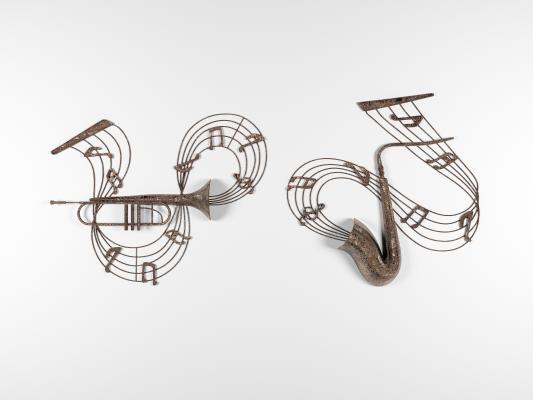 工业风乐器装饰墙饰