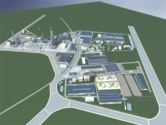 现代工业厂房 化工厂