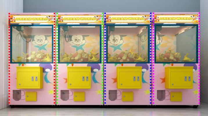 现代游戏机抓娃娃机夹娃娃机