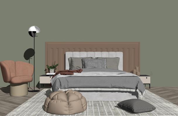 北欧卧室 床具组合