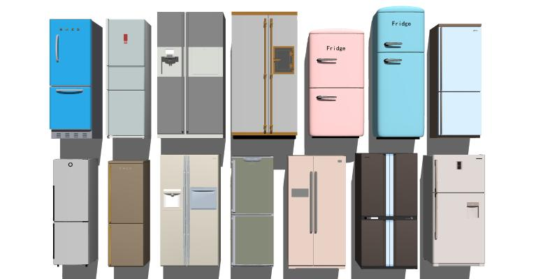 現代冰箱冰柜組合