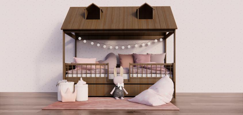 北欧风格儿童床 饰品 玩偶