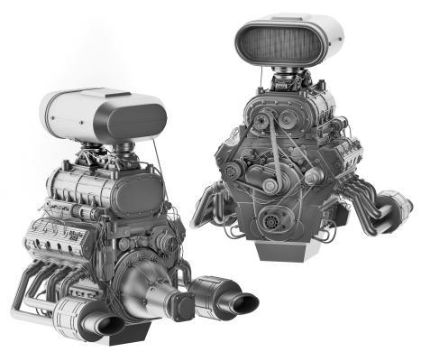 现代发动机 搅拌机