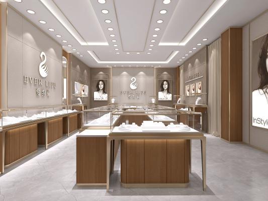 現代珠寶專賣店 珠寶店鋪 商業空間展示