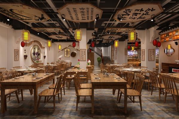 中式风格餐厅餐饮 餐厅