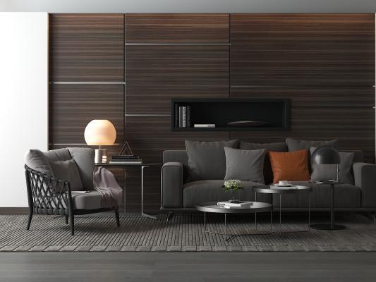现代沙发茶几 双人沙发