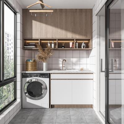 现代阳台 洗衣房 洗衣机