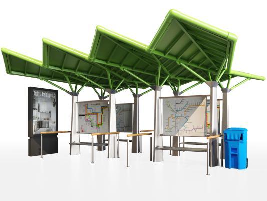现代车站 站台