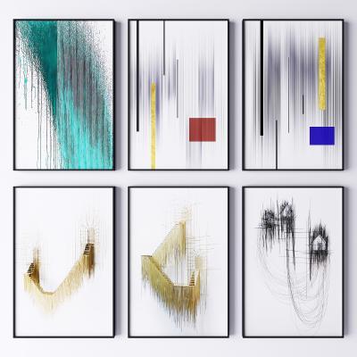 现代简约艺术装饰挂画 抽象画 艺术画
