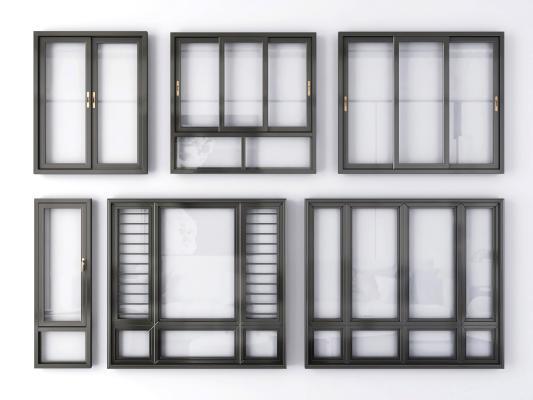 现代窗户 窗子 窗