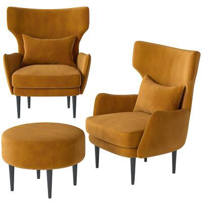现代休闲椅 矮凳