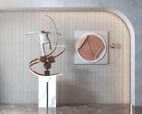 现代抽象人物雕塑