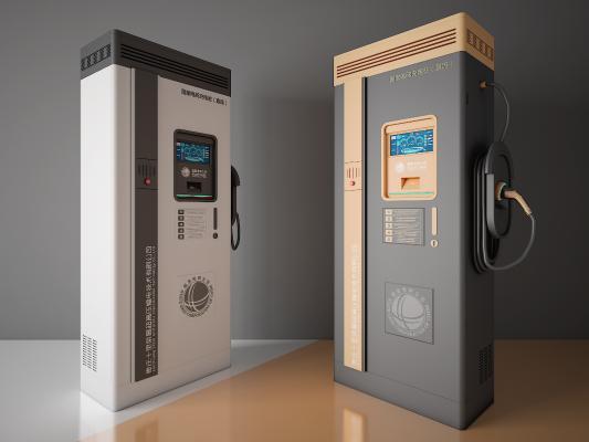 现代新能源电动车充电桩 充电站 公共充电桩