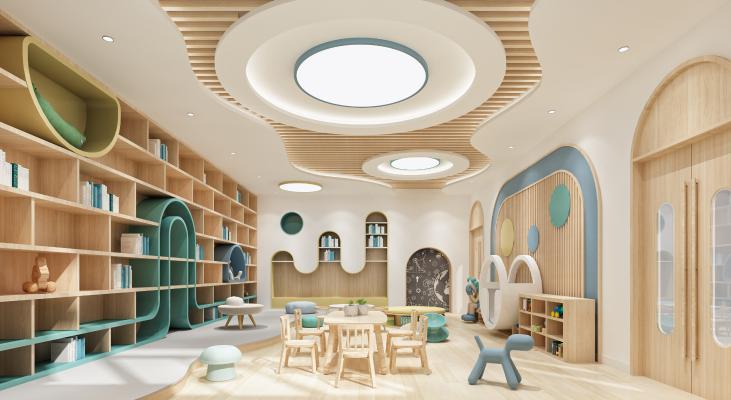 现代学校阅读室 图书馆
