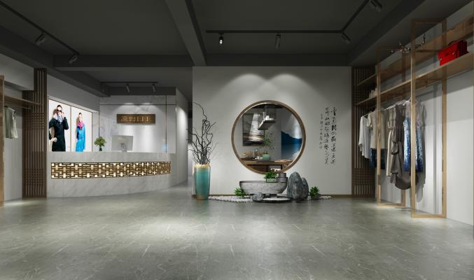 新中式服装店