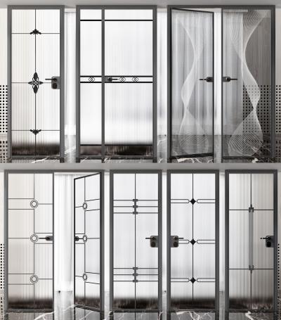 現代玻璃門組合