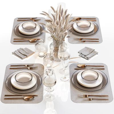 現代餐具 擺盤 陳設 刀叉 碗碟