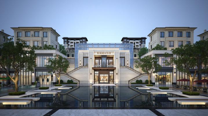 新中式售樓部外觀
