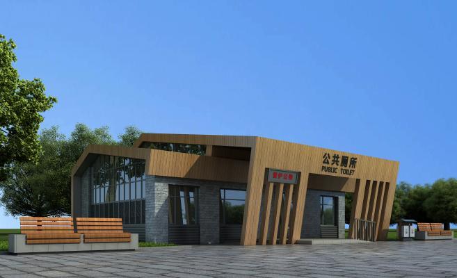 新中式公共厕所建筑