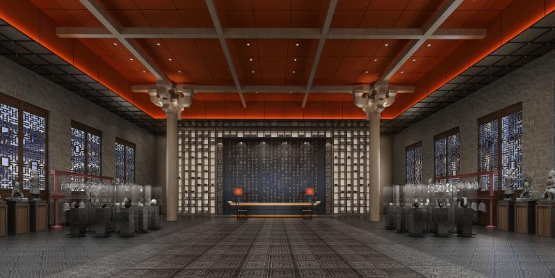 传统中式酒店大堂