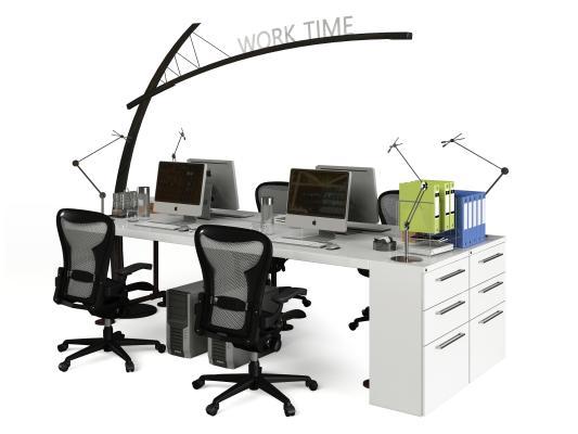 现代办公桌椅组合