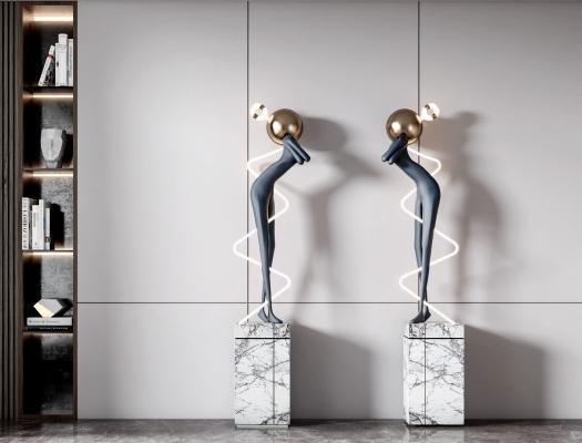 现代雕塑 摆件组合