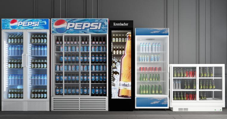 现代冰箱冰柜 超市酒水饮料