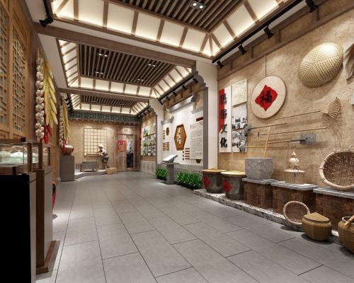 新中式村史馆 乡村博物馆 展厅