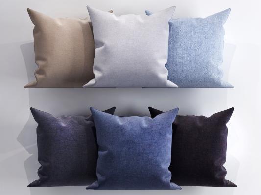 现代轻奢布艺抱枕组合 方形靠枕