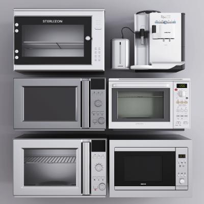 现代厨房电器 烤箱 微波炉 净水机