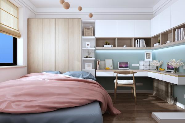 现代卧室 书房 榻榻米