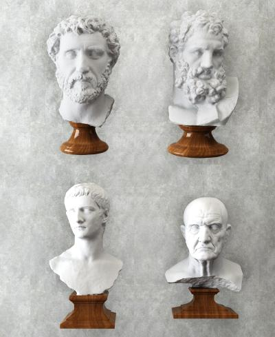 欧式人物石膏头像装饰摆设