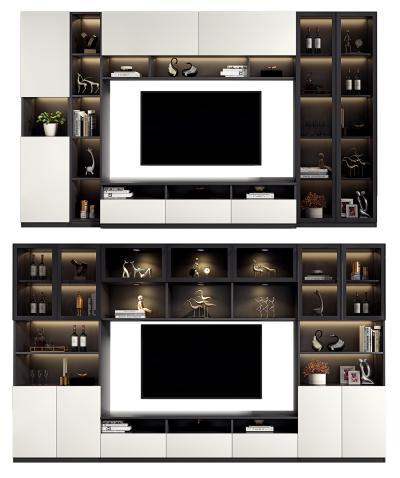 现代轻奢电视柜背景墙