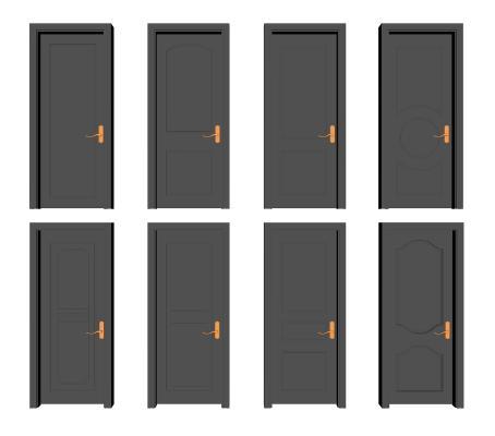 现代烤漆房门
